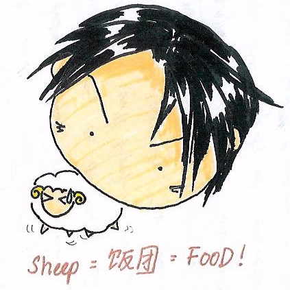 Sorry, nothing to do with the sheep in the channel... Its juz that i like to draw normal sheeps for fun that's all. XD